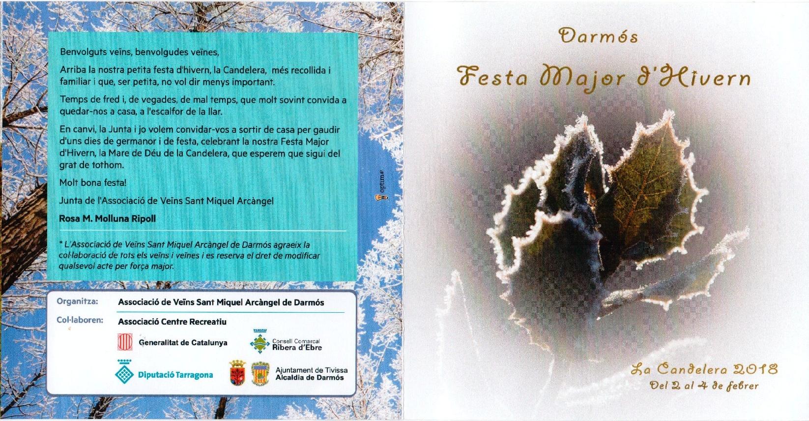 Festa de la Candelera a Darmós
