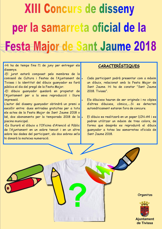 Concurs camiseta Sant Jaume 2018