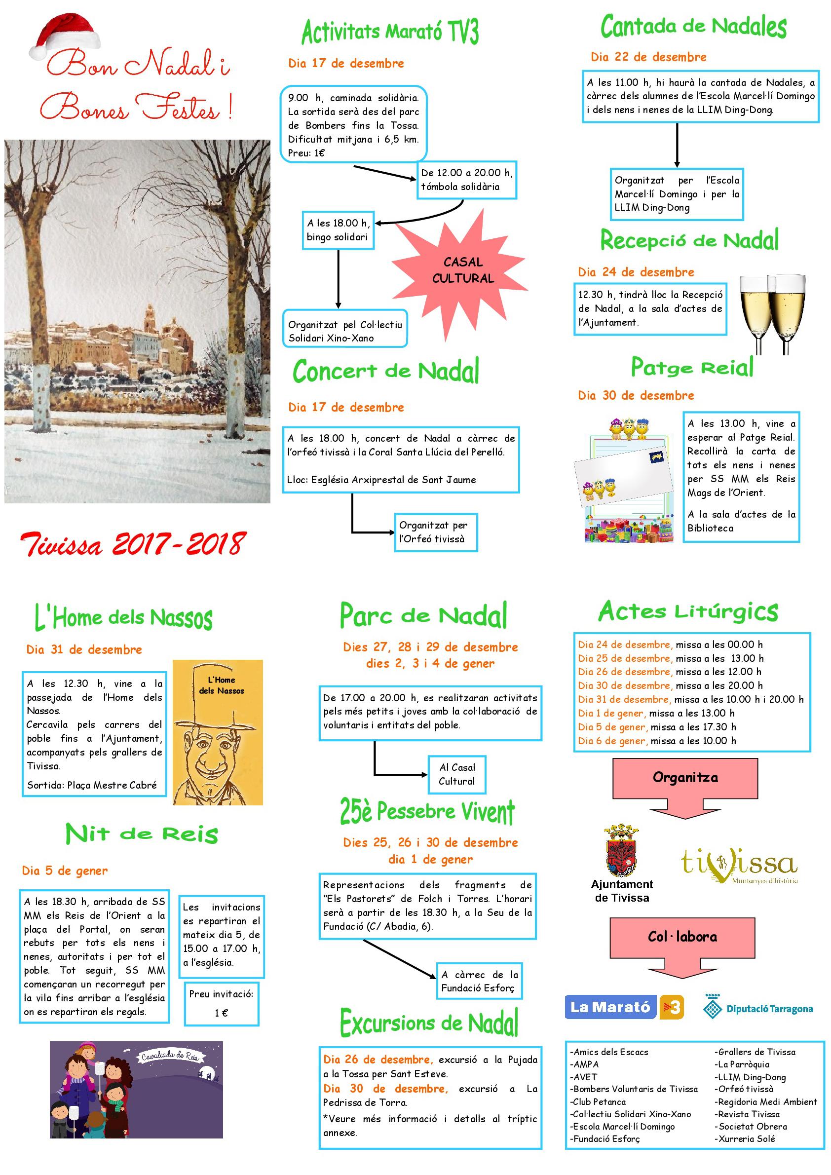Activitats de Nadal 2017-2018